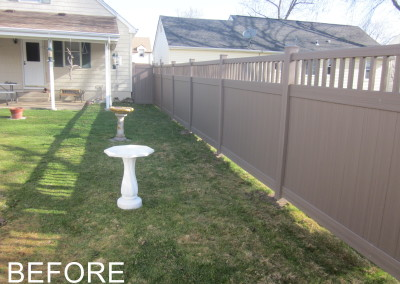 Before Landscape Fence