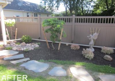 After Landscape Fence