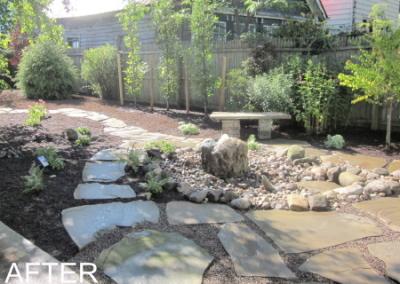 Back Yard Water Rock