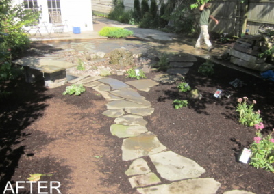 After Back Patio/w Flagstone