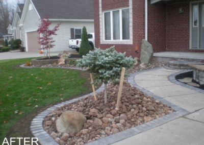 Stone Mulch with Boulders